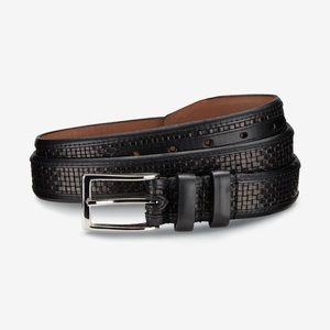 Allen Edmonds WOVEN INLAY Dress Belt #28001 34